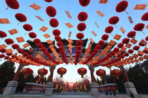 Lanterns are a common sight during Chinese New Year