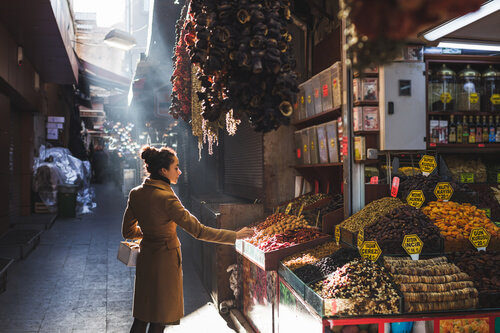 Woman at Grand Bazaar Spice Stall
