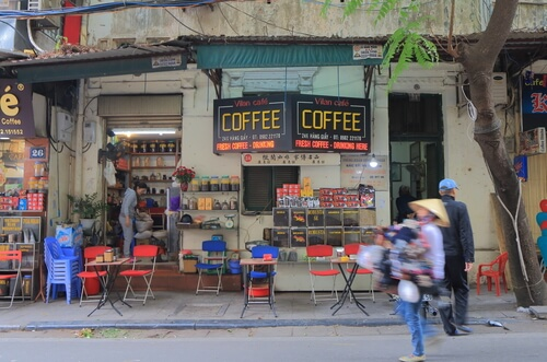 Coffee stall in Hanoi