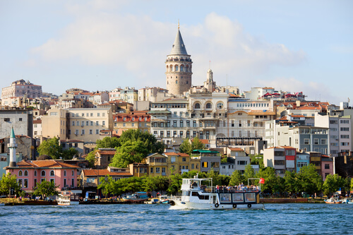 Beyoglu district with Galata Tower
