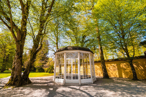 "The ""Sound of music"" pavillion in Helbrunn park in Salzburg Austria"