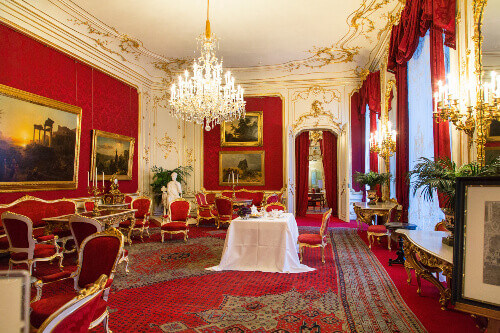Imperial royal apartments or Kaiserappartements in Hofburg Palace in Vienna Austria
