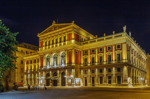 The Wiener Musikverein is the home to the Vienna Philharmonic Orchestra in the Innere Stadt borough in Vienna Austria