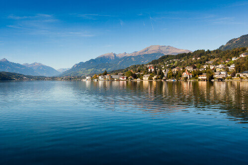 The Village of Millstatt am See on the lake of Millstatt in Austria