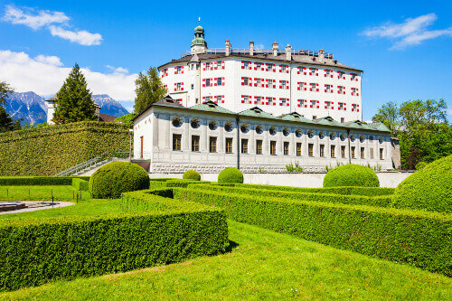 Ambras Castle or Schloss Ambras Innsbruck is a castle and palace located in Innsbruck Austria
