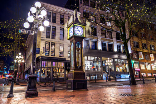 Steam Clock in Gastown District Vancouver