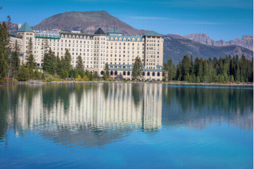 Fairmont Chateau overlooking Lake Louise