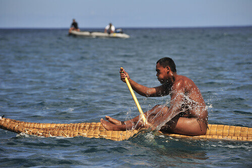 Local canoe race part of annual Tapati festival Easter Island Chile