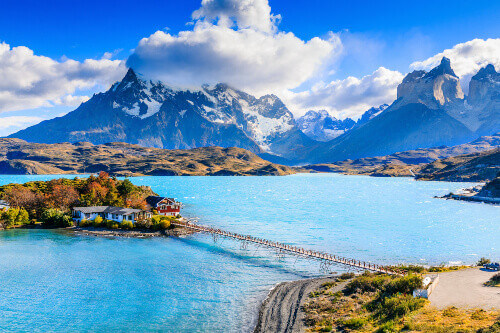 Lake Pehoe in Torres Del Paine National Park Chile