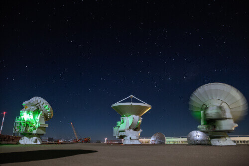 The Alma Radio Observatory in the Atacama Desert in Chile.