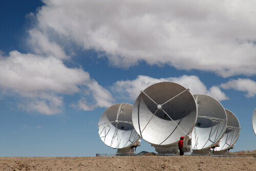 The biggest telescope in the world, Array is in Chile.