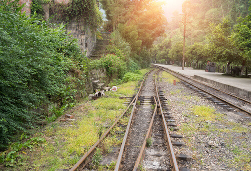 Narrow gauge railway in Sichuan province in China