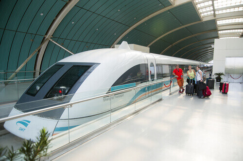 The Maglev Train or Shanghai Transrapid in Shanghai China