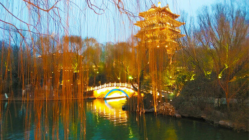 Daming Lake Park Jinan China