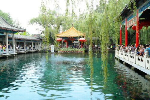 The famous Baotu Quan spring in Jinan, also called the Best Spring in the World in Jinan China