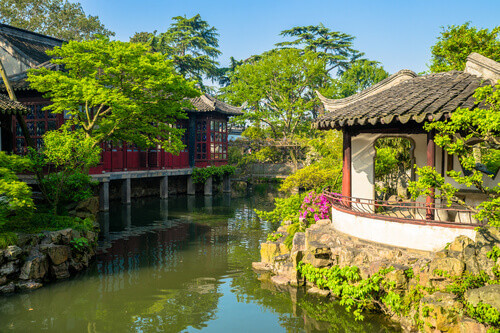 Humble Administrators Garden Park is one of Chinese classical gardens in Suzhou China