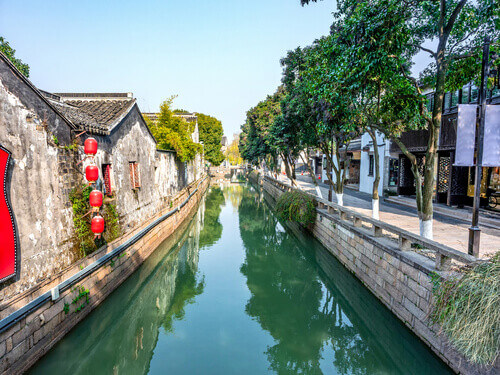 Pingjiang Road Historic District in Suzhou China