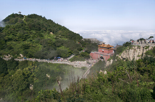 South Gate to Heaven on the summit of Taishan Shandong China