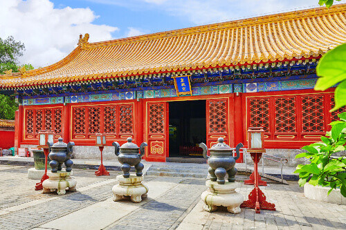 Temple of Earth also referred to as the Ditan Park in Beijing China