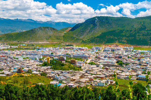 Shangri-La or Xianggelila formerly Zhongdian mountain city in the Yunnan province The seat of the Diqing Tibetan Autonomous Prefecture in China