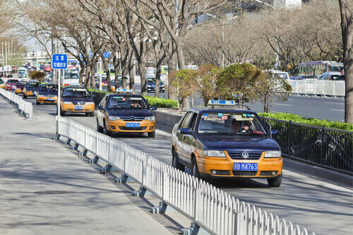 Beijing China taxis are convenient and fairly inexpensive from Western countries