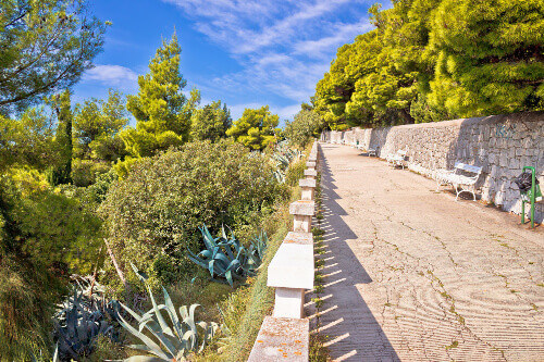 The picturesque mediterranean walkway view of Marjan Hill.