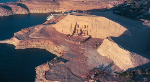 Abu Simbel from above