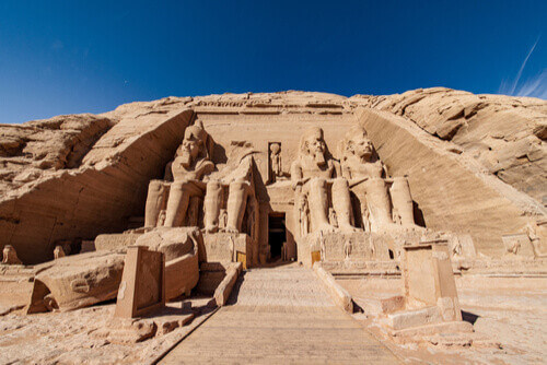 The great temple of Ramses II Abu Simbel in Egypt