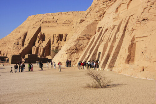 The great temple of Ramses II and the temple of Hathor and Nefertari in Abu Simbel Egypt