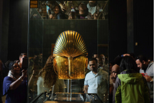 Tutankhamun's Golden Mask in Egyptian Museum Cairo Egypt
