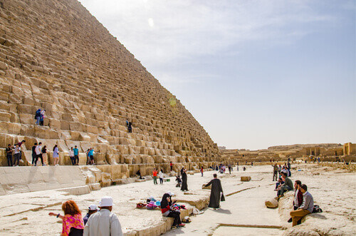 Cheope Pyramid in Giza Cairo Egypt
