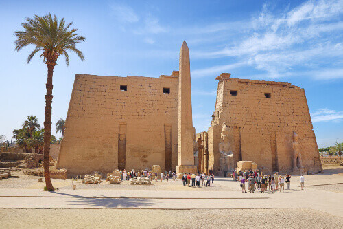 Entrance to Luxor Temple in Luxor Egypt