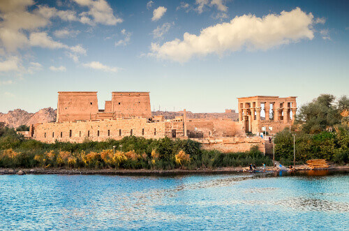 Temple of Philae was originally located near the expansive First Cataract of the Nile in Upper Egypt