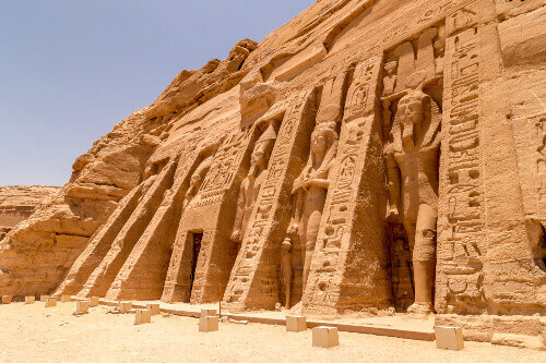 The temple of Hathor and Queen Nefertari in Abu Simbel Egypt