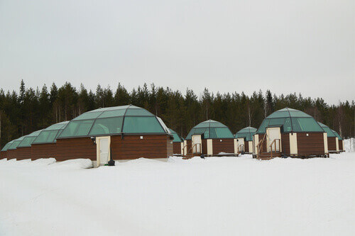 Glass Igloos different sizes in Sinetta Finland