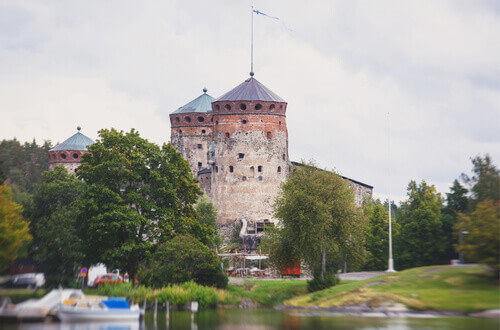 The St Olafs Castle in Savonlinna Finland