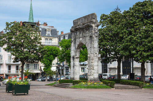 Arch of Campanus in Aix-les-Bains in France