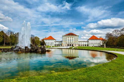 Baroque style Nymphenburg Palace in Bavaria Germany