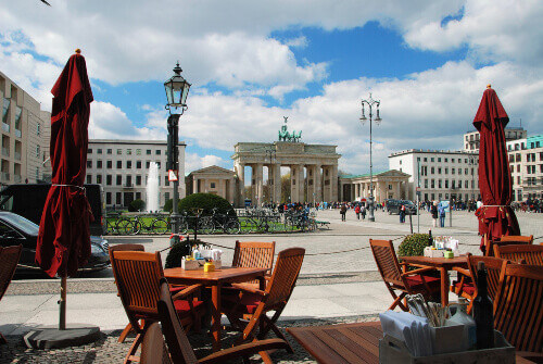 Brandenburg gate in west Berlin Germany
