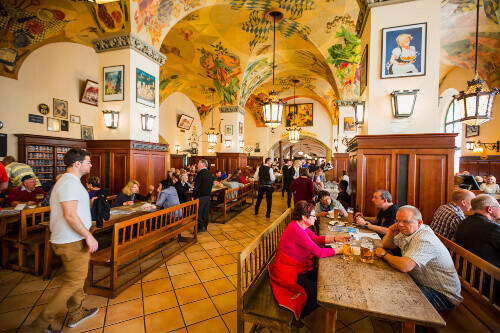 The Famous Hofbraeuhaus in Munich, Bavaria Germany
