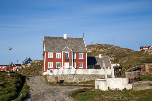 Knud Rasmussens birthplace, which is now a museum in Ilulissat, Greenland