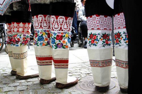 Kamiks or boots is a part of the Greenlandic National costume located in Greenland
