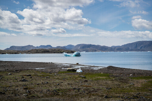Melted Iceberg in August floating in the coast of South Greenland