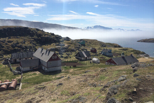 The small town of Alluitsoq in Southern Greenland