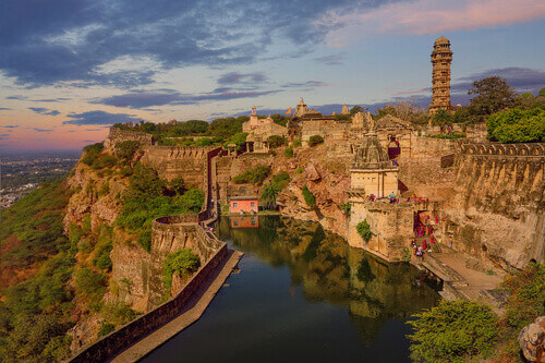 Chittorgarh Fort in Rajasthan India