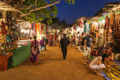 Goa Night Market in Goa India