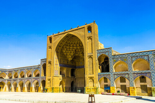 Masjed-e Jameh Mosque in Esfahan Iran