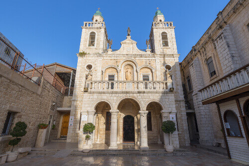 The Church at Cana in the Holy Land, built on the site of Jesus First Miracle, Israel