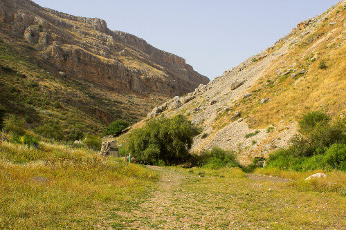 The Valley of The Doves in the Arbel nature Reserve in Israel. This is part of the Jesus trail from Nazareth to Capernaum