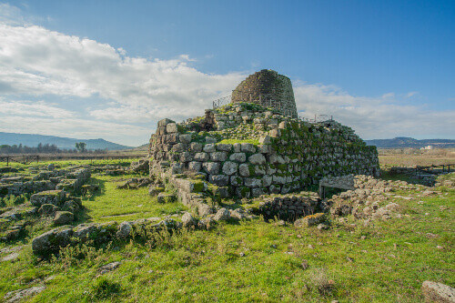 Ancient Nuraghe fortress in Sardinia Italy